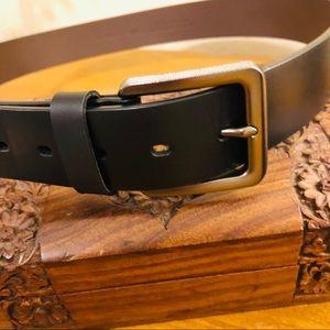 Men's Cremieux Brown Leather Woven Belt Size 38